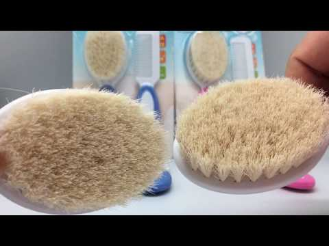 high quality goat hair brush for baby use