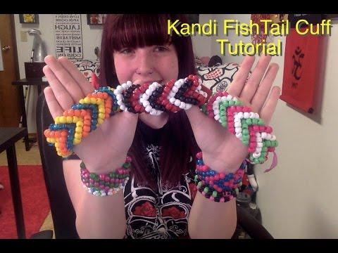 How to make a Kandi Fishtail Cuff (Tutorial)