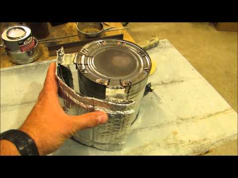 Pop-Up Hunting Blind Heater / Stove  Update ! Tri-Wick Candle Heat Source By KVUSMC