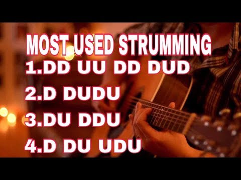 LESSON ON 4 STRUMMING PATTERN  MOST USED IN NEPALI AND HINDI SONGS BY SR CREATION
