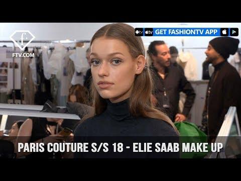 Elie Saab Fresh Beauty Make Up Paris Haute Couture Spring/Summer 2018 | FashionTV | FTV