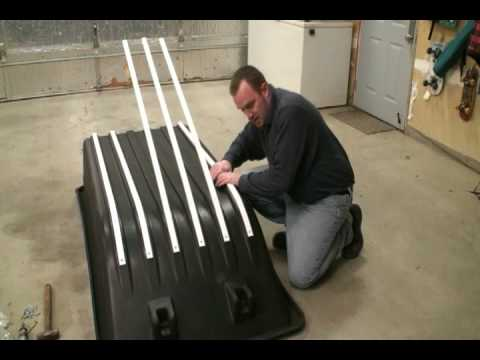 Ultimate Portable Ice Fishing House Build Series: The Art of Hyfax Runner/Glides Installation