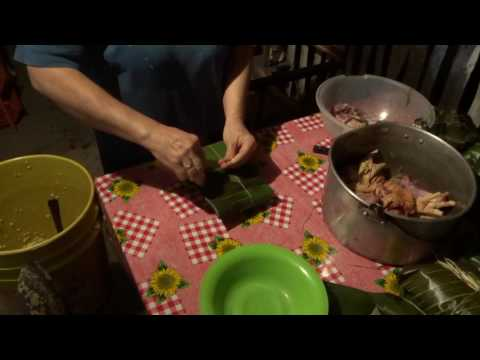 Cooking Tamale - A Traditional Colombian Dish