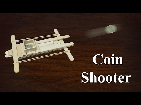 How to make coin shooter with popsicle Sticks