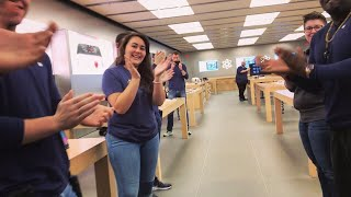 FIRST IN THE LINE FOR IPHONE X AT THE APPLE STORE!