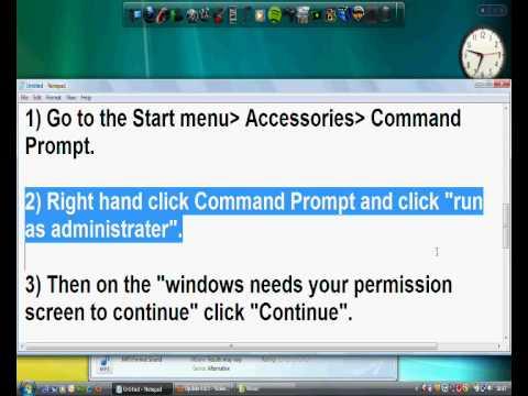 Windows Media Player 11 vista (not opening) Fix