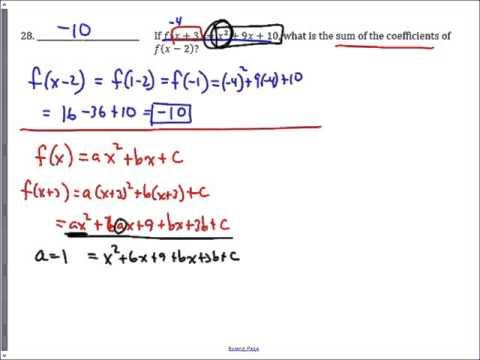 Sprint #28 - 2015 Sycamore Invitational - Function Coefficients