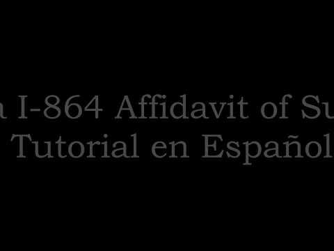 Forma I-864 Affidavit of Support-Tutorial 2017