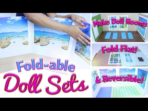How to Make Doll Rooms Fold-able & REVERSIBLE!