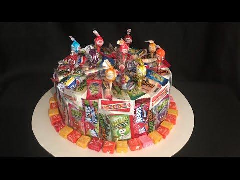 Candy cake ( pastel forrado en dulces)
