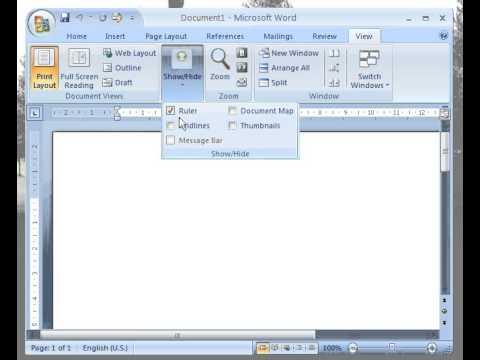 Tutorial Microsoft Word Mengaktifkan Ruler & Gridline