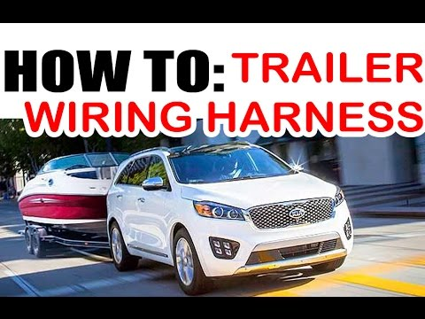 Kia / Hyundai Towing Wire Harness Install - EASY!