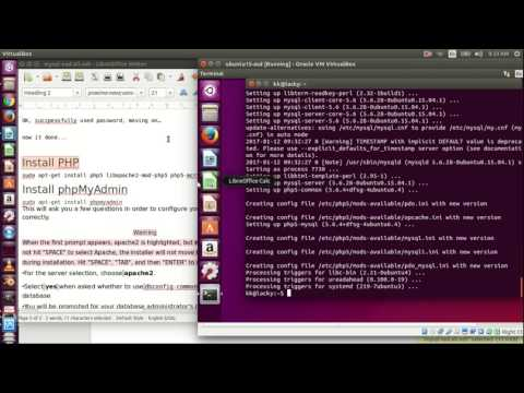 Install  Apache, MySQL, PHP and phpmyadmin in Ubuntu 15.10 -full tutorial