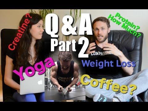 Q&A Part 2 - Vegan Protein, Creatine, Weight loss, Coffee | Simnett Nutrition