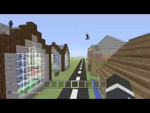 Minecraft Xbox One: Building a Zombie City #2