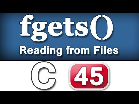 fgets Function C Programming Language Video Tutorial