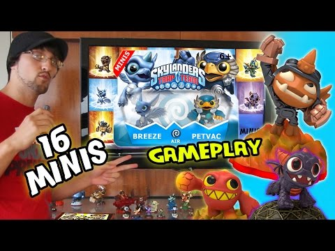 16 Mini Skylanders! Spry Gameplay / All Toys / Double Pack / Info / Photos (Trap Team Sidekicks)