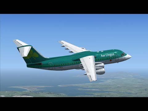 ''A tour of Ireland'' Aer Lingus Bae146-300 including Belfast,Dublin,Cork,Shannon,Knock,Donegal ✈️