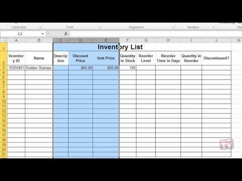 Hiding Or Unhiding Columns in Excel 2010