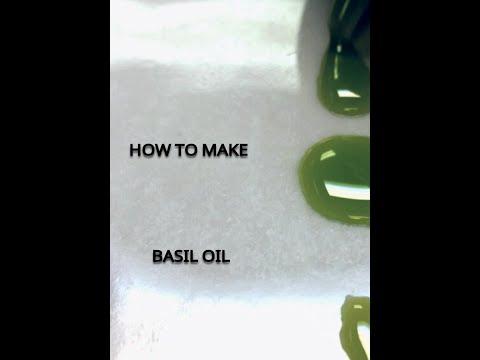 How to create Michelin Star Basil Oil