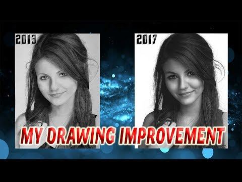 Hyperrealistic drawing. Victoria Justice. My drawing improvement in 4 years.