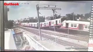 Moment When Two Trains Collided At Hyderabad's Kacheguda Railway Station