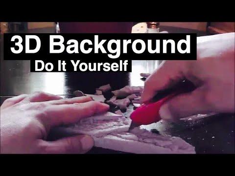 DIY Aquarium 3D Background Rock using Foam