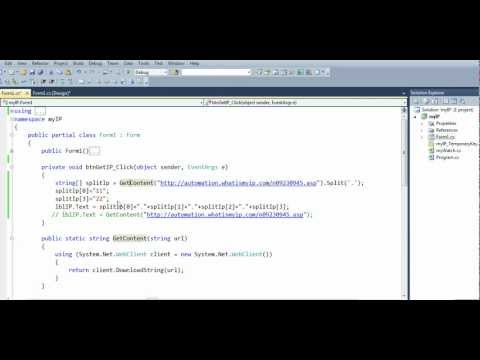 How to get your public ip address with c#