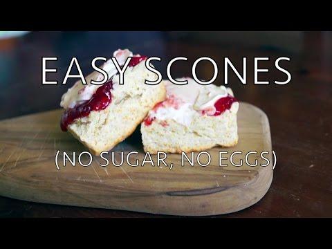 Easy scones - no sugar, no eggs
