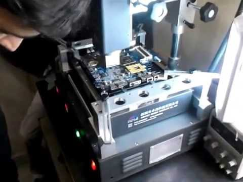 Laptop Reballing with BGA Machine . Online laptop repair training delhi