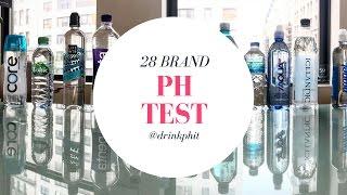 Alkaline or Acidic? 28 Bottled Water pH Test. Don