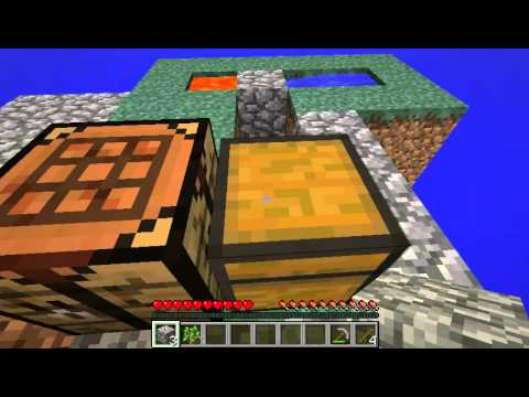 Minecraft Skyblock Tutorial: How to make a double cobblestone generator with 1 ice