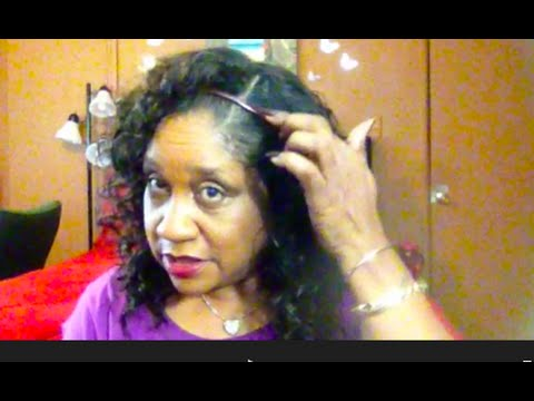 #118   How to  FAKE  a Skin Part in a Half Wig!!!