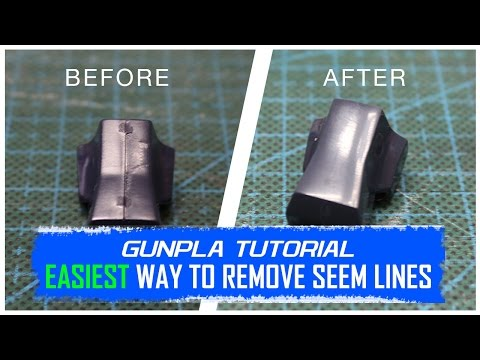Gunpla Tutorial: Easiest Way to Remove Seam Lines