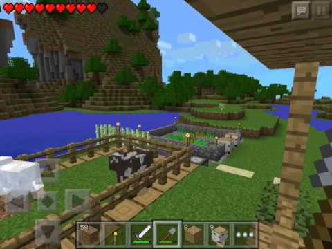 Let's play minecraft pocket edition ep 6 roof