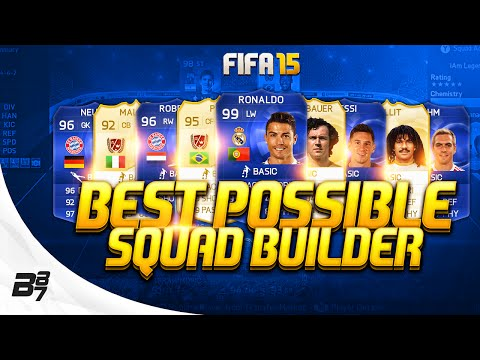BEST POSSIBLE TEAM ON FIFA (195) w/ Legends and TOTY Cards | FIFA 15 Ultimate Team Squad Builder