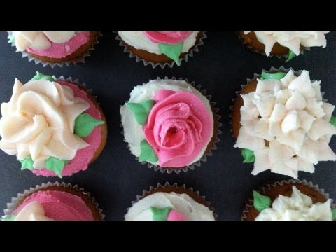 Ann's NEW easy buttercream roses flower cupcakes pt1 how to cook that ann reardon