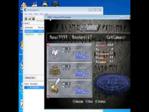 How to use cheat in Brigandine Grand Edition On PSX Emulator