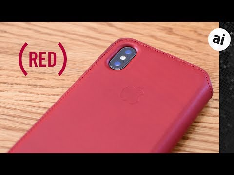Hands-On: (PRODUCT)RED iPhone X Leather Folio Case