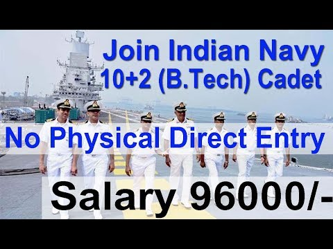 Direct Entry Indian Navy Job 2018, Apply Online All India Vacancy , 10+2 B Tech Entry