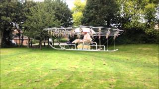 The Swarm Manned Aerial Vehicle Multirotor Super Drone Flying