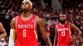 LeBron James JOINING Chris Paul & James Harden in Houston Next Season!?
