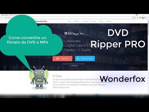 Come convertire un Filmato da DVD in mp4 - Wonderfox DVD Ripper Pro