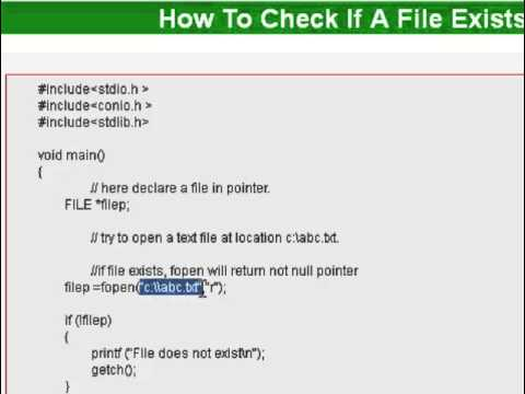 How to check if file exists or not in c