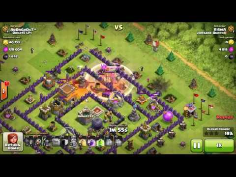 GoWipe attack for TH8 Base 3 star 2016