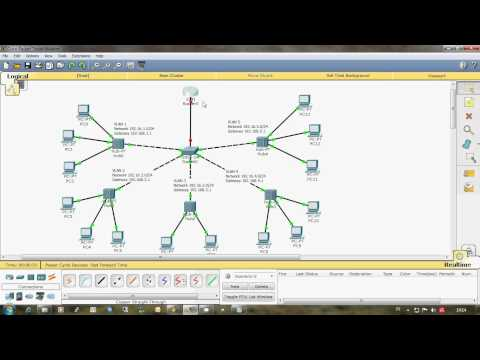 Configure VLAN on Router and Switch Manageable Cisco using Packet Tracer Simulator