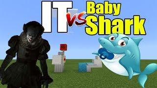 IT vs Baby Shark | Minecraft PE