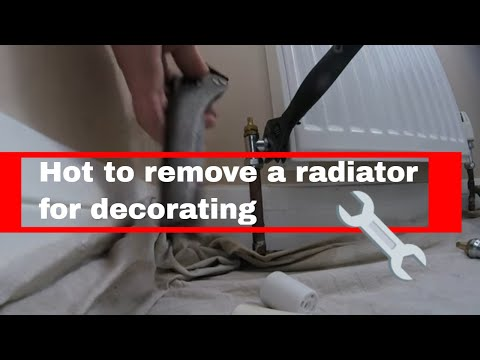 How to remove your radiator for decorating