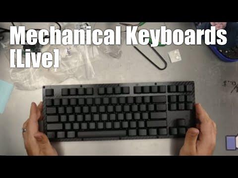 Live Mechanical Keyboard build - Custom Clicky Carbon Fiber TKL