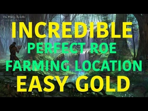 ★ INCREDIBLE Perfect Roe Farming Location★  EASY GOLD ESO GUIDE